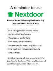 Advertise your Business & Connect with the Neighborhood